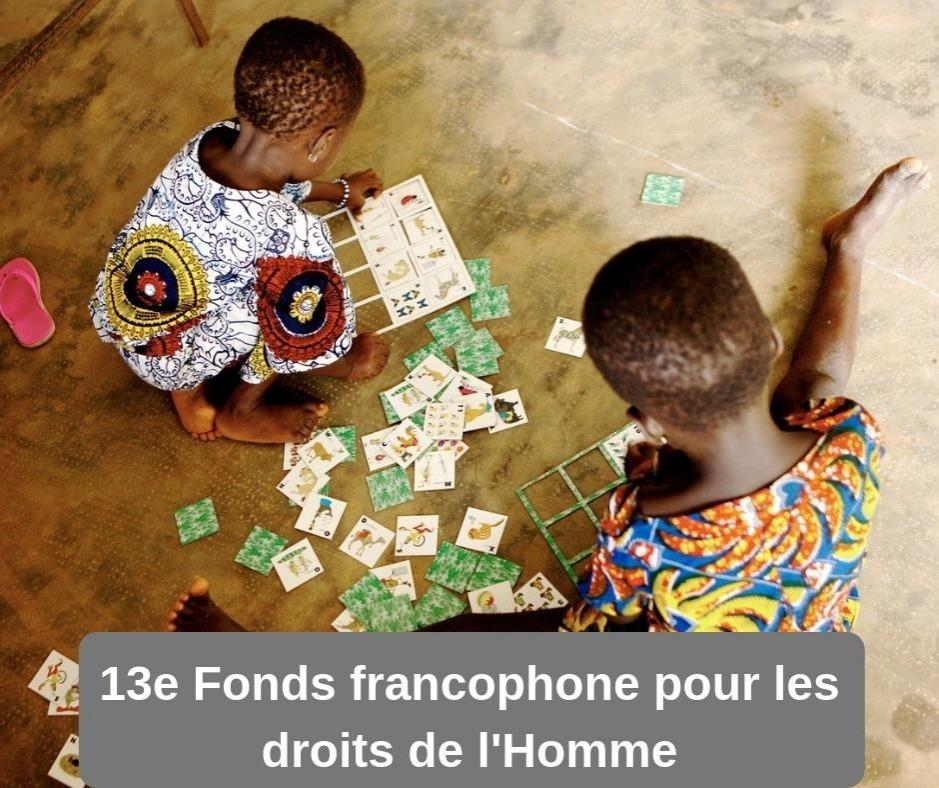 13e Appel à propositions du Fonds francophones pour les droi ... Image 1
